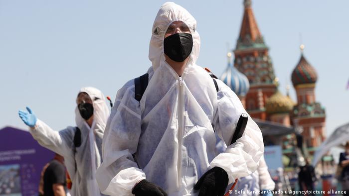 Russland Moskau | Coronavirus | Desinfektion