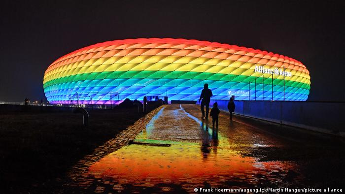 Euro 2020: Proposal to illuminate Munich arena in LGBTQ colors for visit of  Hungary | Sports| German football and major international sports news | DW  | 19.06.2021