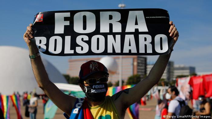 Протесты в Бразилии против политики Болсонару