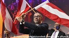 ABD0218_20210619 - WIENER NEUSTADT - ÖSTERREICH: Herbert Kickl (FPÖ) nach der Wahl zum Bundesparteiobmann anl. eines außerordentlichen Bundesparteitages der FPÖ am Samstag 19. Juni 2021 in Wiener Neustadt. - FOTO: APA/HANS PUNZ - 20210619_PD4639