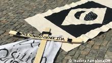 Deutschland Demo in Berlin gegen den brasilianischen Präsident Jair Bolsonaro