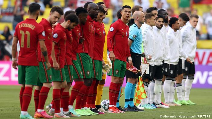 عصر شنبه ۱۹ ژوئن (۲۹ خرداد) تیم ملی فوتبال آلمان (پیراهن سفید) در دومین دیدار خود در مرحله گروهی جام ملتهای اروپا به مصاف پرتغال رفت. پیکار دو تیم در ورزشگاه آلیانتس مونیخ برگزار شد.