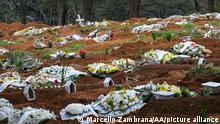 SAO PAULO, BRAZIL - JUNE 19: A view of Vila Formosa cemetery after bodies of Covid-19 victims are buried by officials in Sao Paulo, Brazil, on June 19, 2021. Brazil already has almost 500,000 COVID-19 deaths and shows no signs of a slowdown in the contagion. Marcello Zambrana / Anadolu Agency