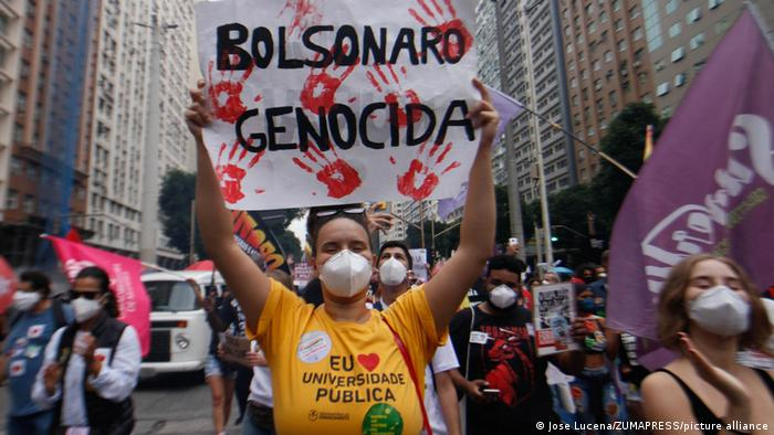 Proteste gegen Präsident Jair Bolsonaro in Rio de Janeiro