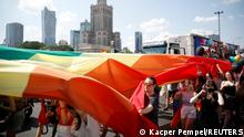 People attend the Equality Parade rally in support of the LGBT community, in Warsaw, Poland June 19, 2021. REUTERS/Kacper Pempel