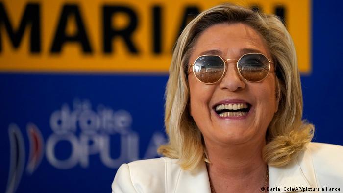 Marine Le Pen, esta semana durante un acto de campaña.
