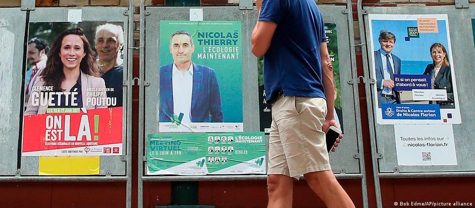 Regionalwahlen in Frankreich | Wahlplakate in Saint Jean de Luz