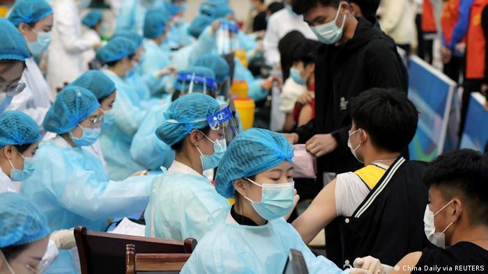 China Qingdao | Coronavirus | Impfkampagme