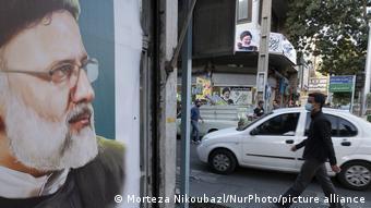 Iran Teheran Wahlplakat Präsidentschaftskandidat Ebrahim Raisi
