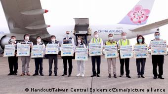 Taiwan Taipeh | Coronavirus | US-Lieferung Moderna-Impfstoff