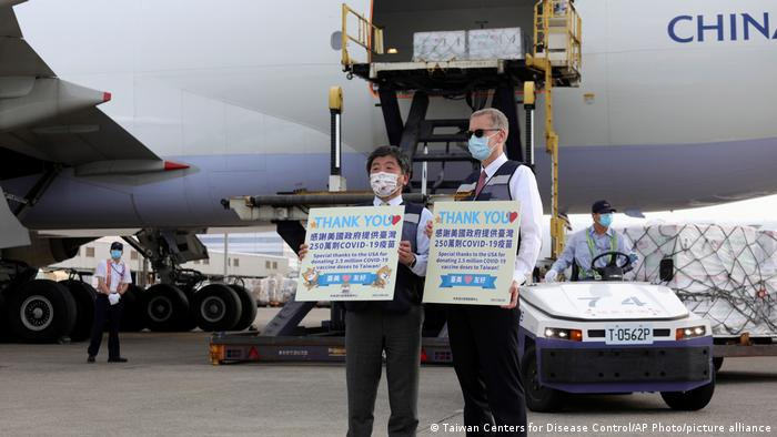 Taiwan welcomes a China Airlines cargo plane carrying COVID-19 vaccines