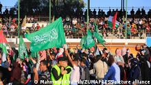 May 24, 2021, Gaza city, The Gaza Strip, Palestine: Maskes militants of Hamas in the Gaza Strip, attends the victory rally after a cease-fire reached following an 11-day of war between Hamas and Israel. (Credit Image: © Mahmoud Khattab/Quds Net News via ZUMA Wire