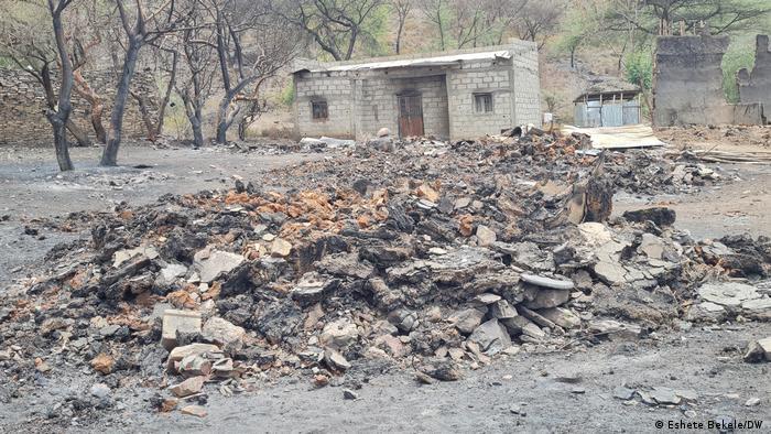 Äthiopien Kebelle in Jile Timuga woreda | Beschädigte Schule
