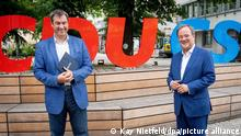 Deutschland | Klausurtagung CDU und CSU |Söder und Laschet