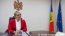 Rodica Antoci ist die Präsidentin der Integritätsbehörde der Republik Moldau. DW-Korrespondent Vitalie Calugareanu