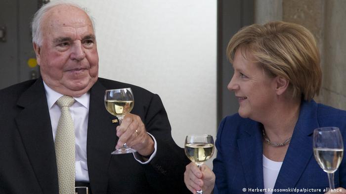Angela Merkel i Helmut Kohl