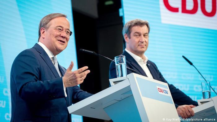 CDU lideri Armin Laschet ve CSU lideri Markus Söder