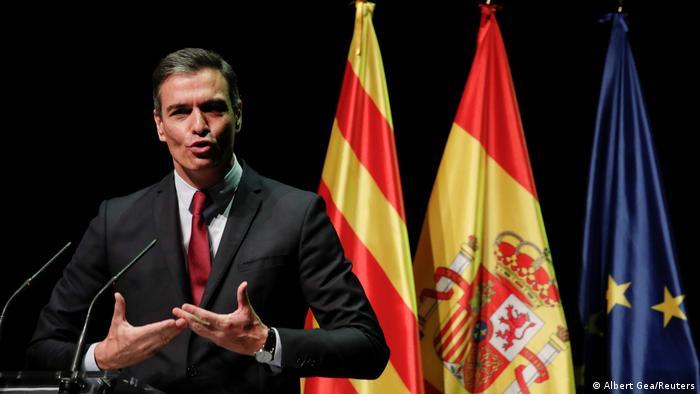 Spanien, Barcelona | Spanischer Ministerpräsident Pedro Sanchez
