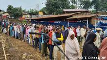 21.06.2021 Parlamentswahl in Beshaha Dorf wo PM Abiy Ahmed her kommt und seine Stimme Abgegeben hat.