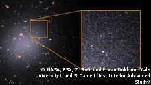 Galaxie Messung rote Sterne