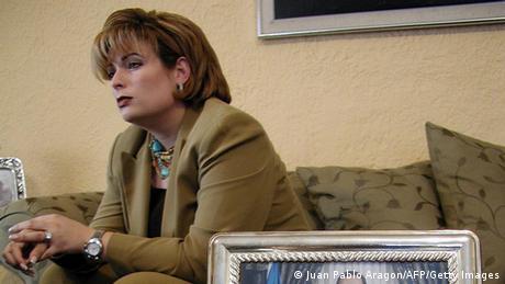 María Fernanda Flores Lanzas, esposa del expresidente nicaragüense Arnoldo Alemán.(2003).