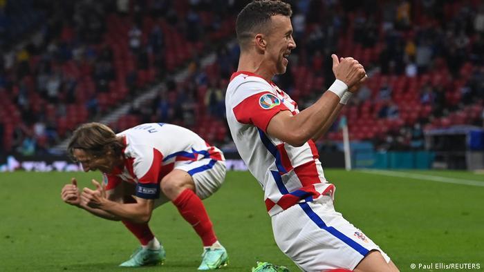 Croatia's players celebrate