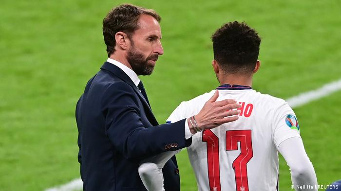 Jadon Sancho finally made his Euro 2020 bow