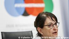 Special Representative of the Secretary General of the United Nations Deborah Lyons attends a press conference closing the 2020 Afghanistan Conference, at the European headquarters of the United Nations (UN) in Geneva, Switzerland, Tuesday, November 24, 2020. (KEYSTONE/Valentin Flauraud)