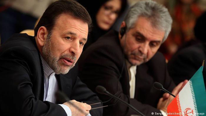 Mahmud Waesi (l.), der Stabschef des iranischen Präsidenten: Mit allen rechtlichen und internationalen Mitteln gegen die US-Maßnahme