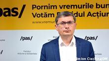 Igor Grosu ist Interimspräsident der Partei Aktion und Solidarität PAS, aus der Republik Moldau. Am 11. Juli finden dort vorgezogene Parlamentswahlen statt. via Medana Weident