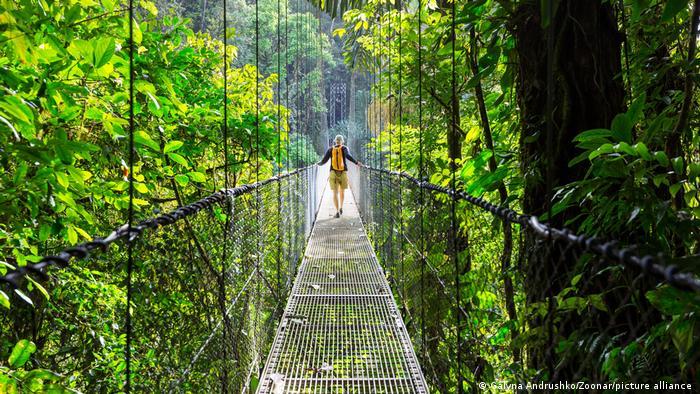 Costa Rica Hängebrücke in Costa Rica