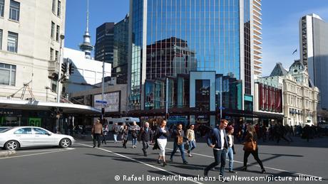 Neuseeland Touristen in Auckland