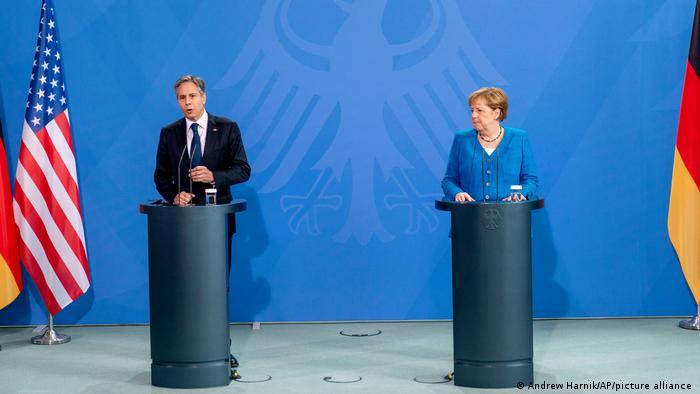 Antony Blinken dhe Angela Merkel, Berlin, 23.06.2021