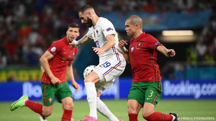 Karim Benzema's goal leveled the game against Portugal in Budapest