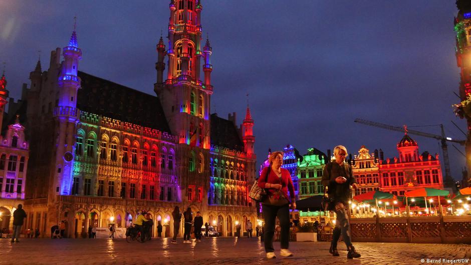 Belgien, Brüssel, Grand Place, Groote Markt I Regenbogen