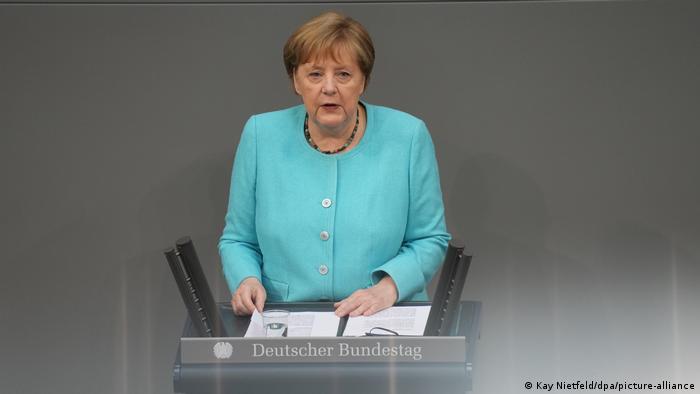 Deutschland Bundestag Angela Merkel Regierungserklärung EU-Gipfel