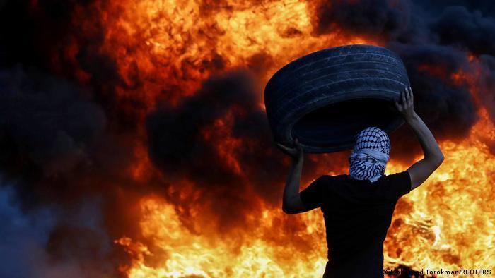 Israel Palästina Protest gegen Siedlungsausbau im Westjordanland