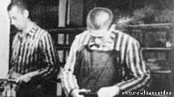 Workers at Dachau concentration camp