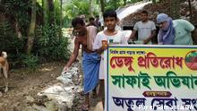 Fumigation to prevent dengue is going on besides covid protection in urban area. Anti dengue day is observed in rural area also. Where it was take: West Bengal Anti dengue day observed in rural area