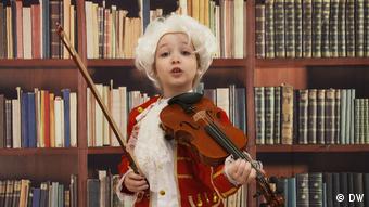 Arabella Duffy mit Geige
