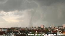 Extremely strong storm in Hodonin in southeast Moravia, Czech Republic, June 24, 2021. Meteorologists say it may be tornado. Half of Hrusky village was destroyed. (CTK Photo/Marek Sitar)