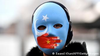流亡澳洲的维吾尔人抗疫北京东奥 (2021年6月资料图)