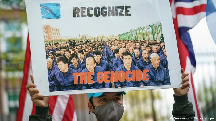 Washington | Anti China Protest Uiguren Genozid Abstimmung Großbrittanien