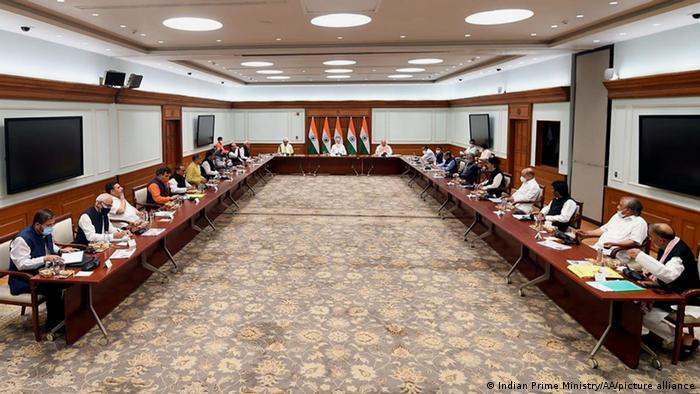 Indian Prime Minister Narendra Modi meeting with Kashmir leaders