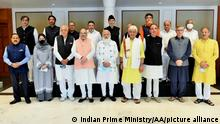 India Prime Minister Narendra Modi with Kashmir leaders