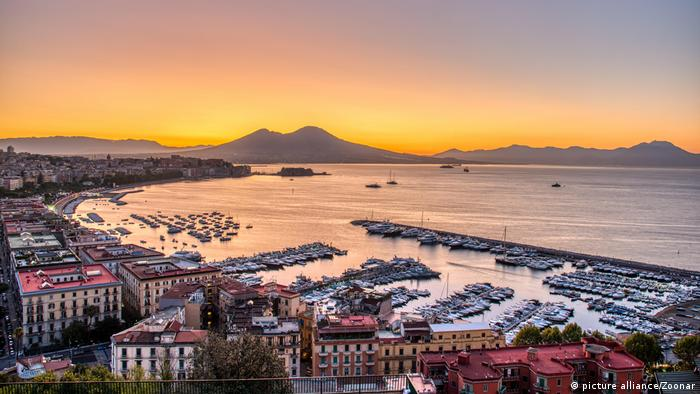 Gulf of Naples at sunset