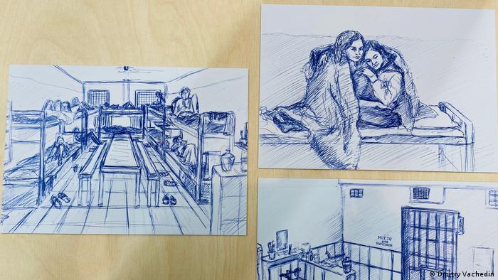 Тюремные рисунки Нади Саяпиной