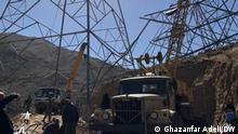 Afghanistan, Strommasten die in letzten Monaten häufig von bewaffeneten Milizen zerstört wurden. Fotograf: Ghazanfar Adeli in Kabul hat am 24.06.2021