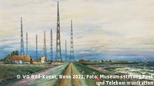 Franz Radziwill: Der Sender Norddeich, 1933, Museum für Kommunikation Frankfurt © VG Bild-Kunst, Bonn 2021 Foto: Museumsstiftung Post und Telekommunikation