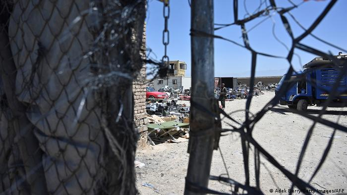 A look through the fence at the Bagram junkyard